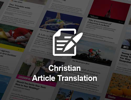 Christian Article Translation